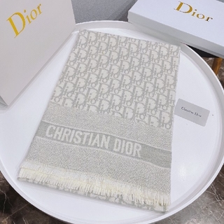 ♪大人気 【新品】 Christian Diorロゴマフラーストール #022