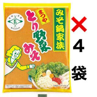 まつや とり野菜みそ 200g×4袋