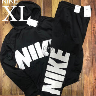 NIKE - 新品 NIKE ナイキ ビッグロゴ 裏起毛 パーカー&パンツ セット 黒  XL