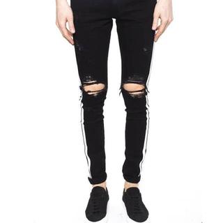 サンローラン(Saint Laurent)のobj着用 amiri side stripe broken jeans 32(デニム/ジーンズ)