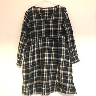 ショコラフィネローブ(chocol raffine robe)の【ゆったり着れる】秋物ワンピース(ひざ丈ワンピース)