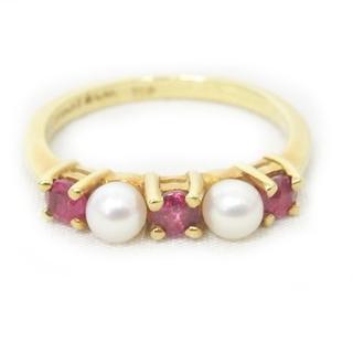 Tiffany & Co. - ティファニー リング 指輪 K18 750 イエローゴールド カラーストーン