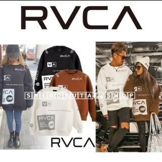 ルーカ(RVCA)の黒 RVCA 美品 ♡ ルーカ ボンディング ビッグシルエット オーバーサイズ(スウェット)