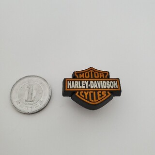 ハーレーダビッドソン(Harley Davidson)の見たこと無い希少品 ハーレー記載のシューズボタンorキーホルダー?(その他)
