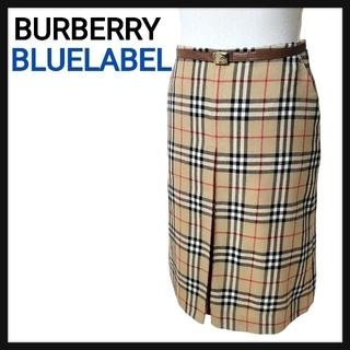 バーバリーブルーレーベル(BURBERRY BLUE LABEL)のバーバリーブルーレーベル スカート ブルーレーベルクレストブリッジ ニット 2点(ひざ丈スカート)
