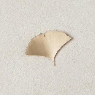 mina perhonen - イチョウのハ-ミガキ 真鍮 ブローチ アクセサリー ハンドメイド オリジナル