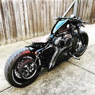 ハーレーダビッドソン(Harley Davidson)のハーレー リジッドバー リジットバー RIGID BAR エボ ショベル XLH(パーツ)