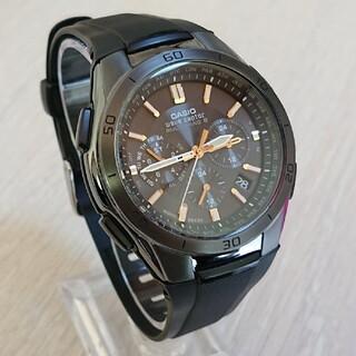CASIO - 超美品【CASIO/WAVECEPTOR】電波ソーラー メンズ腕時計クロノグラフ