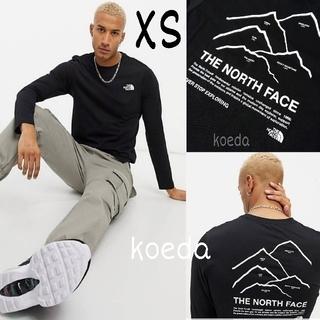 THE NORTH FACE - ノースフェイス ピークス 長袖 ロンT ロング tシャツ 黒 ブラック 海外XS