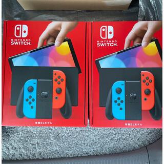 Nintendo Switch - 新型Nintendo Switch 有機ELモデル ネオン本体 2台 スイッチ