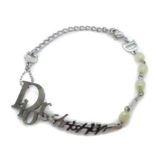 クリスチャンディオール(Christian Dior)のクリスチャンディオール ブレスレット チェーン フェイクパール ロゴ シルバー(ブレスレット/バングル)
