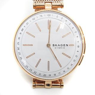 スカーゲン(SKAGEN)のスカーゲン ハイブリッドスマートウォッチ 時計 2針 ピンクゴールド色(腕時計)