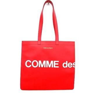 コムデギャルソン(COMME des GARCONS)のコムデギャルソン GARCONS トートバッグ LOGO 牛革レザー ロゴ 赤(トートバッグ)