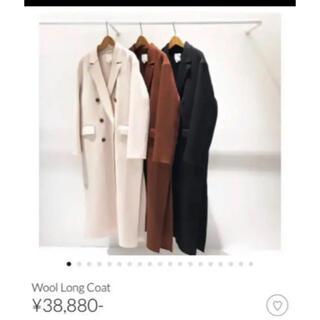 トゥデイフル(TODAYFUL)のトゥデイフル Wool Long Coat ブラウン36(ロングコート)