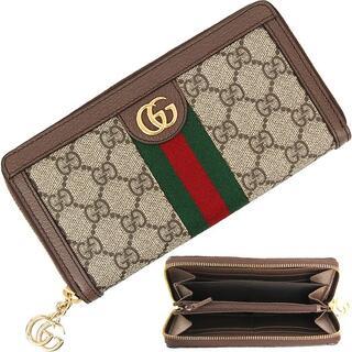 Gucci - GUCCI 長財布 ブラウン レディース 新品 GG グッチ ベージュ 1110