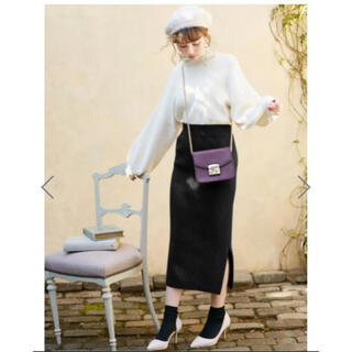 グレイル  GRL リブニットタイトスカート ブラック