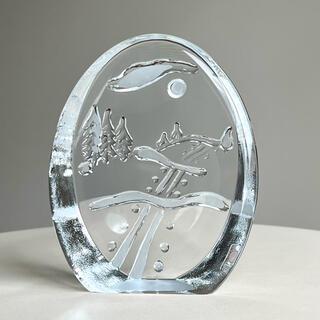 iittala - 冬景色のガラスカード 箱付き イッタラ Tiina Nordstrom