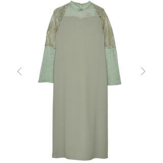 Ameri VINTAGE - PIAO LIANG LACE DRESS ameri vintage グリーン