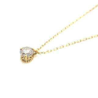 agete - アガット ネックレス ペンダント ダイヤモンド 0.10ct K18 ゴールド