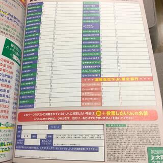 Jr.大賞 投票用紙 Myojo (ミョウジョウ) 2021年 12月号(アート/エンタメ/ホビー)