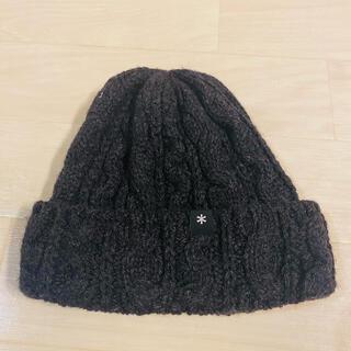 スノーピーク(Snow Peak)の美品❤️スノーピーク ニット帽子 チャコールグレー フリーサイズ(ニット帽/ビーニー)