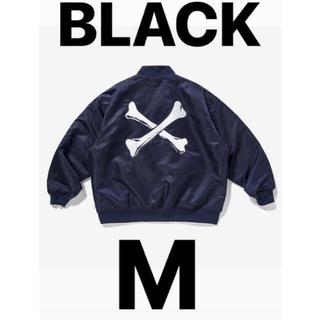 WTAPS TEAM JACKET M BLACK 黒 ブラック 21aw