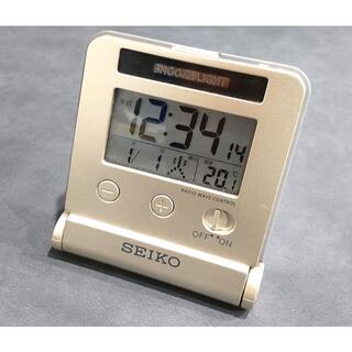 SEIKO - ☆セイコー トラベルクロック 電波目覚まし時計 SQ772G☆[USED美品]