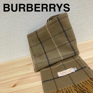 BURBERRY - バーバリー  マフラー カシミア カシミア チェック ベージュ系 白タグ