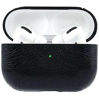 AirPods pro ケース カバー レザー 全面保護 高級感 オシャレ 黒F