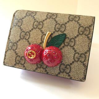 Gucci - 【中古美品 全国送料無料】GUCCI グッチ GG スプリーム チェリー 財布
