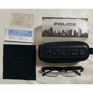 POLICE - POLICE ポリス 伊達メガネ メガネ V1751J 1KF ブラック