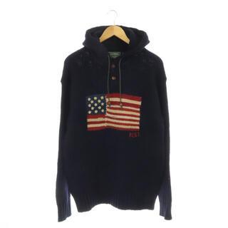 ラルフローレン(Ralph Lauren)のラルフローレン ポロカントリー 星条旗ニットパーカー 長袖 プルオーバー フード(パーカー)