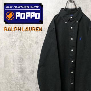 Ralph Lauren - ラルフローレン☆ワンポイント刺繍ロゴビッグボタンダウンシャツ