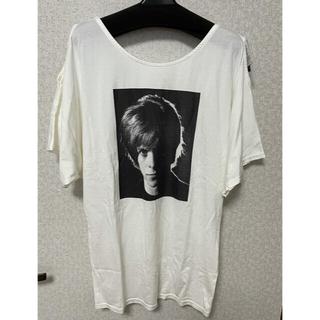 ヒステリックグラマー(HYSTERIC GLAMOUR)のタグ付き・bowie 肩空き5・6部袖 Tシャツ(Tシャツ(半袖/袖なし))