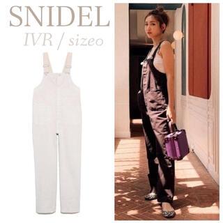 snidel - 新品 オーバーオール SNIDEL 紗栄子 サロペット 白 デニム