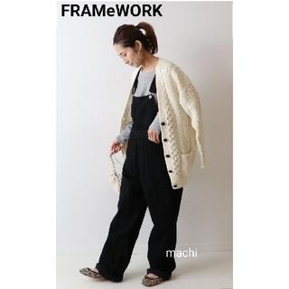 フレームワーク(FRAMeWORK)の新品 FRAMeWORK フレームワーク サロペット ブラック(サロペット/オーバーオール)