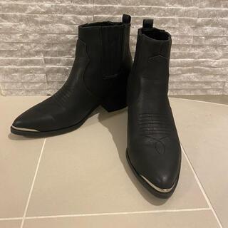エイチアンドエム(H&M)のサイドゴアブーツ ウエスタン(ブーツ)