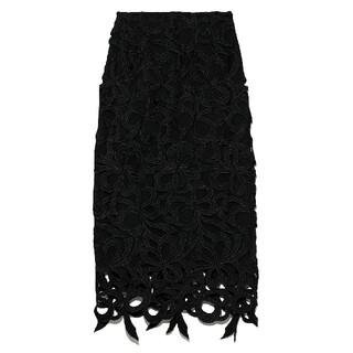《新品》セルフォード リボンレーススカート 黒 38