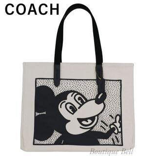 コーチ(COACH)の【COACH】コーチ ミッキー×キースへリング キャンバス トートバッグ(iPhoneケース)