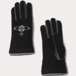 Vivienne Westwood - Vivienne Westwood クロスステッチORB 手袋 ブラック