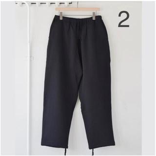 COMOLI 21AW コットン吊裏毛パンツ black 2