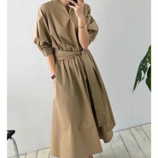 ZARA - 新品 未使用 タグ付き ワンピース ブラウン シャツ 韓国ファッション