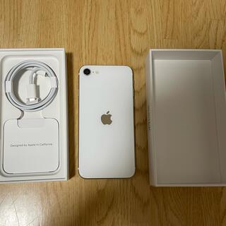 アイフォーン(iPhone)のiPhoneSE第2世代 (SE2) 白 ホワイト 64GB SIMフリー 中古(スマートフォン本体)