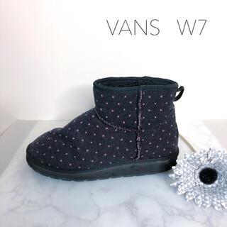 ヴァンズ(VANS)のバンズ⭐︎ドット⭐︎ショートブーツ・ネイビー×ピンク(ブーツ)