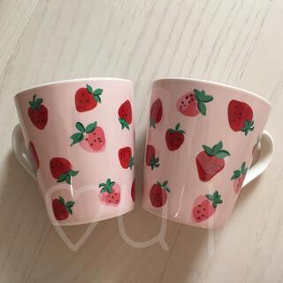 キャスキッドソン(Cath Kidston)のストロベリー マグカップ  いちご イチゴ 苺 キャスキッドソン ペア 2個(グラス/カップ)