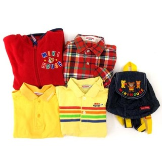 ミキハウス(mikihouse)のミキハウス 5点セット ジャケット シャツ リュック 赤 黄 100 キッズ(その他)