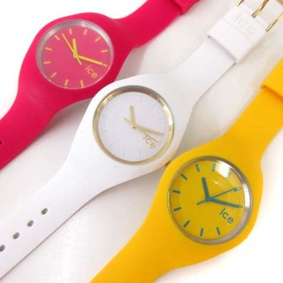 アザー(other)のアイスウォッチ ice 3本セット 腕時計 クォーツ 3針 ピンク 黄色 白(腕時計)
