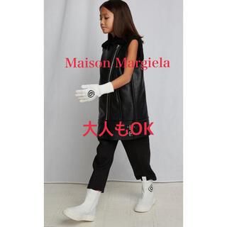 エムエムシックス(MM6)のMaison Margiela ロゴレザーブーツ(ブーツ)