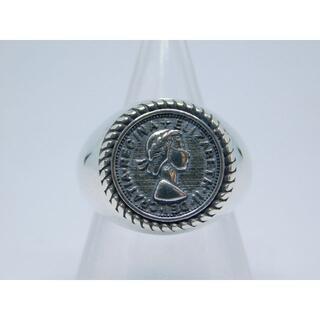 美品 11号 エリザベス コイン リング フリーサイズ アンティーク(リング(指輪))
