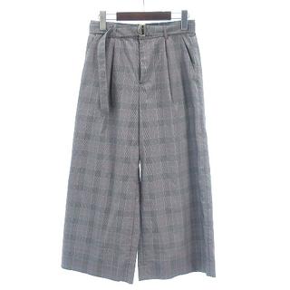 クミキョク(kumikyoku(組曲))のクミキョク 18年製 パンツ ワイド チェック ベルト付き グレー 2(その他)